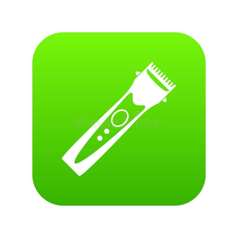 Verde digitale dell'icona del tagliatore illustrazione vettoriale