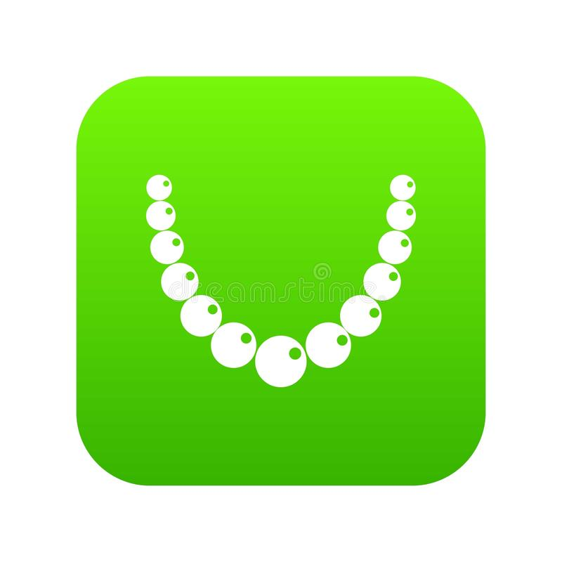 Verde digitale dell'icona della perla illustrazione vettoriale