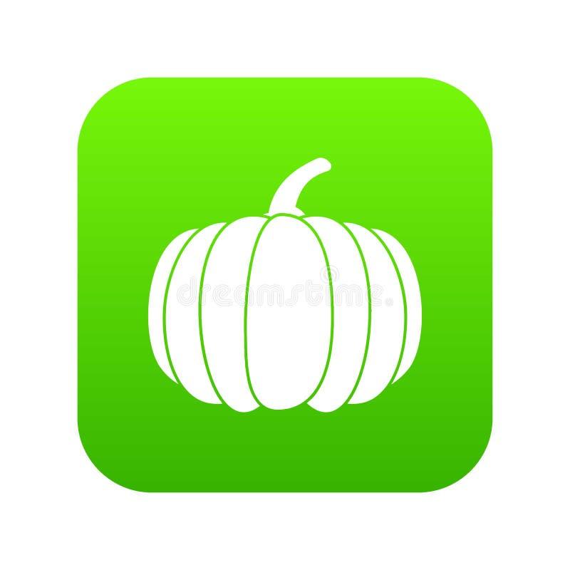 Verde digitale dell'icona della zucca royalty illustrazione gratis