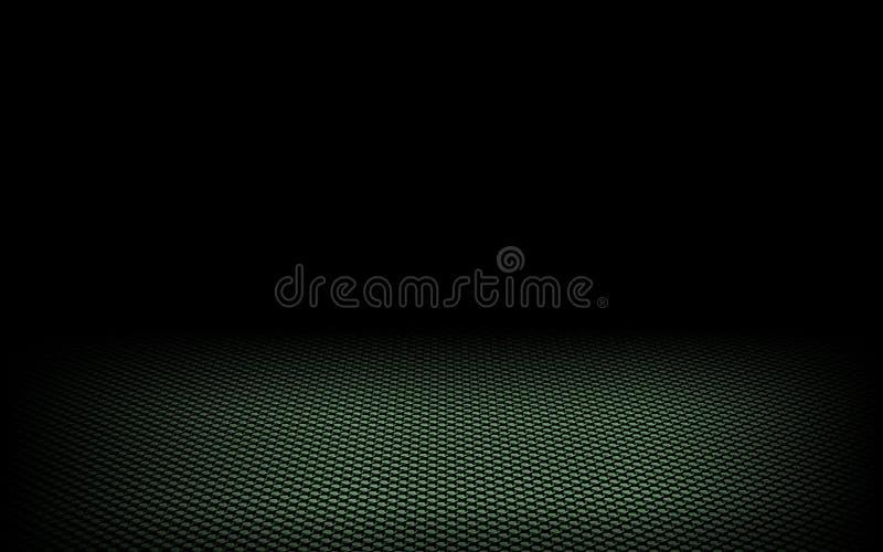 Verde dinamico astratto dei puntini sul nero illustrazione vettoriale