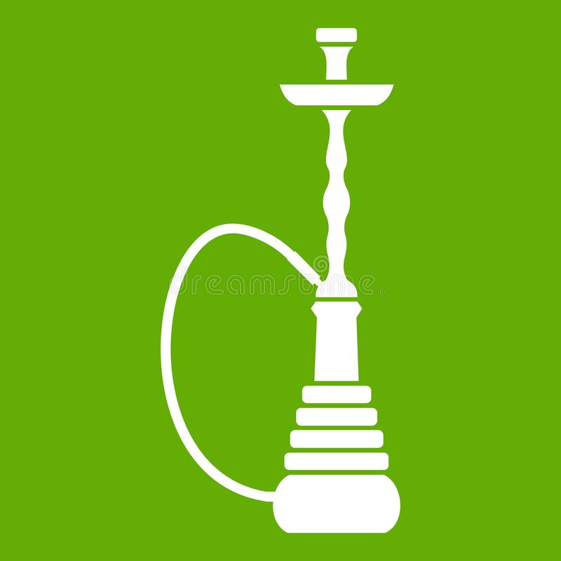 Verde do ícone do cachimbo de água ilustração do vetor