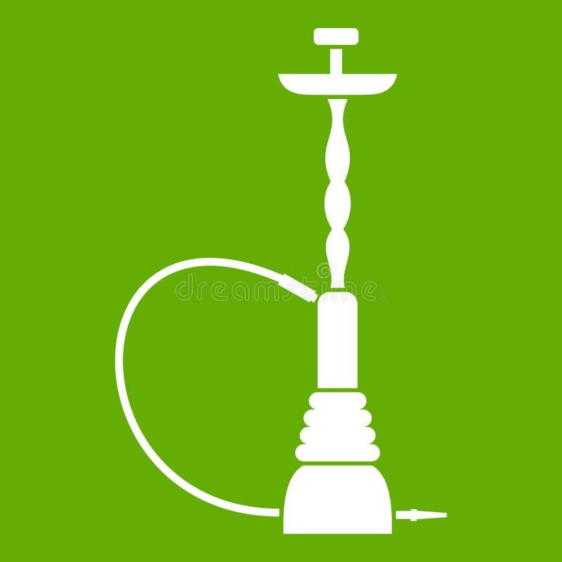 Verde do ícone do cachimbo de água ilustração stock