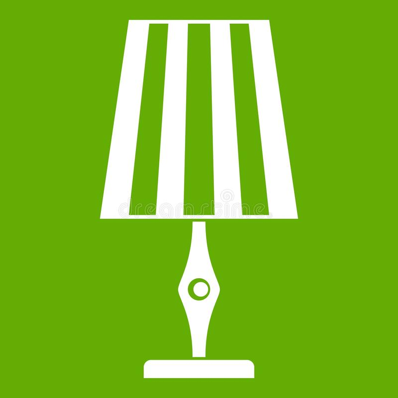Verde do ícone do candeeiro de mesa ilustração royalty free