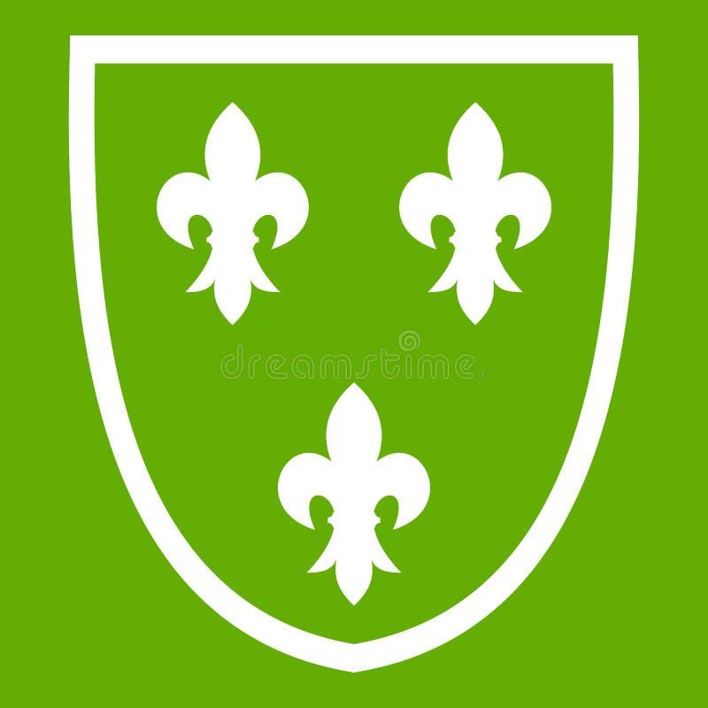 Verde do ícone da crista ilustração do vetor