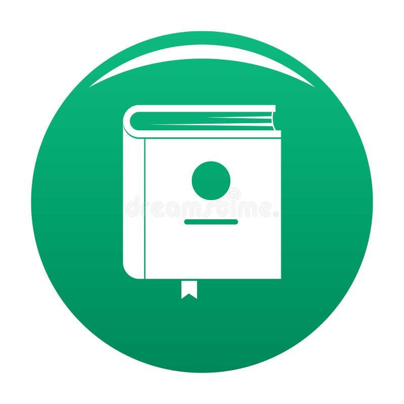 Verde do ícone da enciclopédia do livro ilustração stock