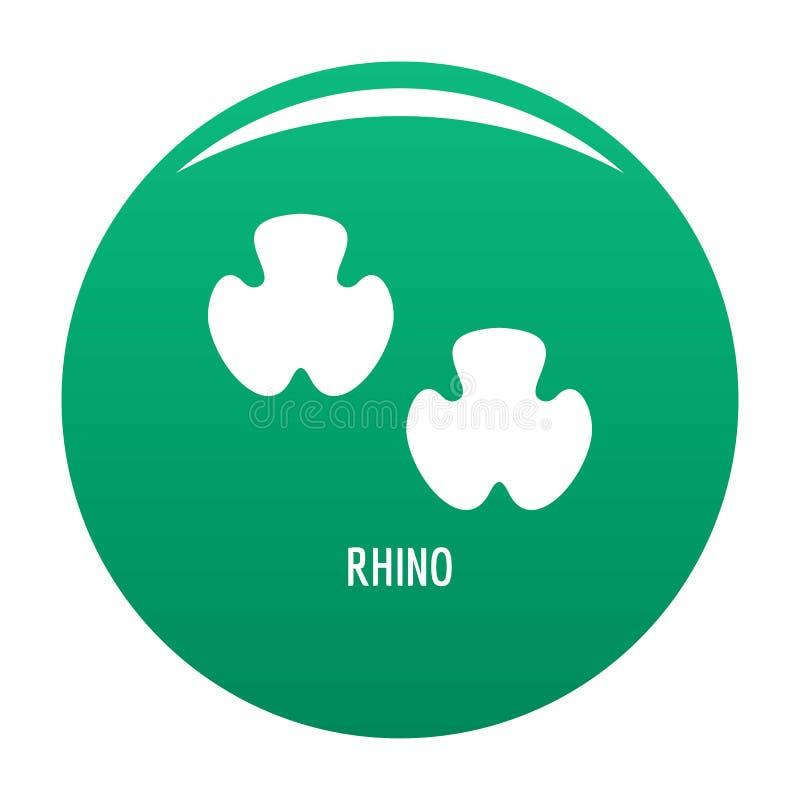 Verde do ícone da etapa do rinoceronte ilustração royalty free