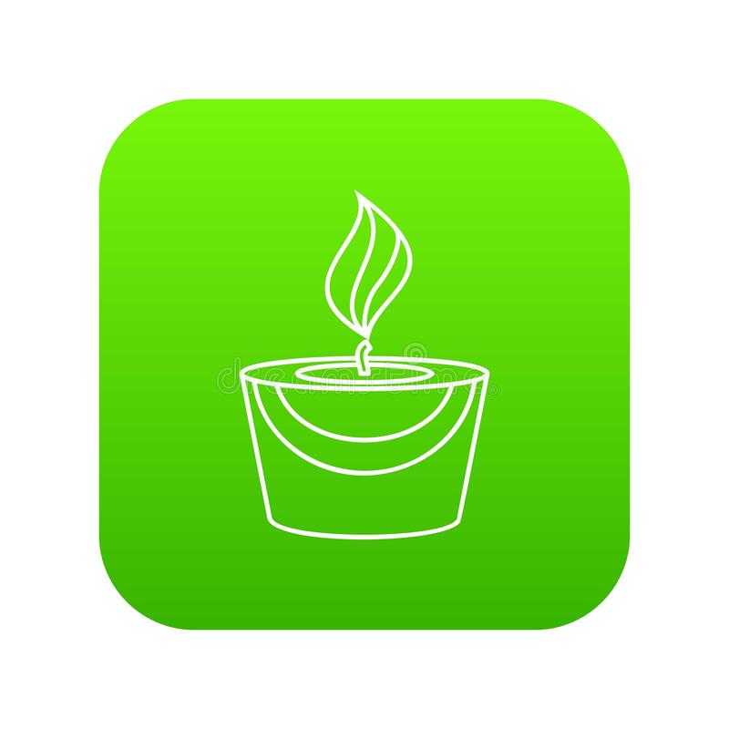 Verde do ícone da vela ilustração royalty free