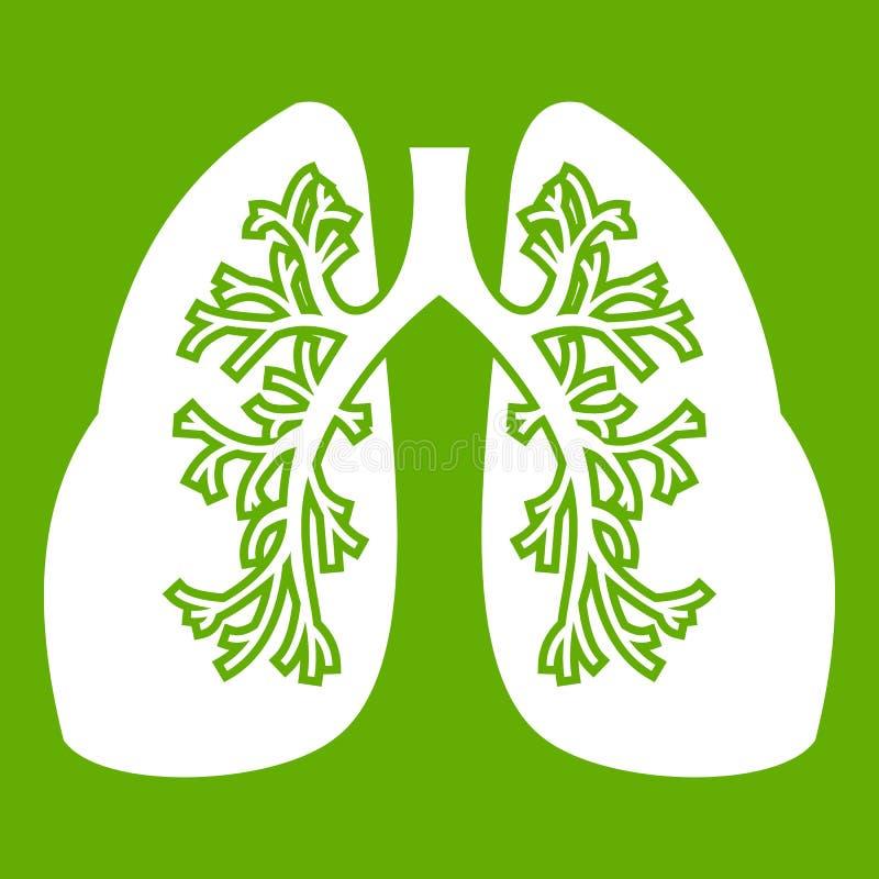 Verde do ícone dos pulmões ilustração stock