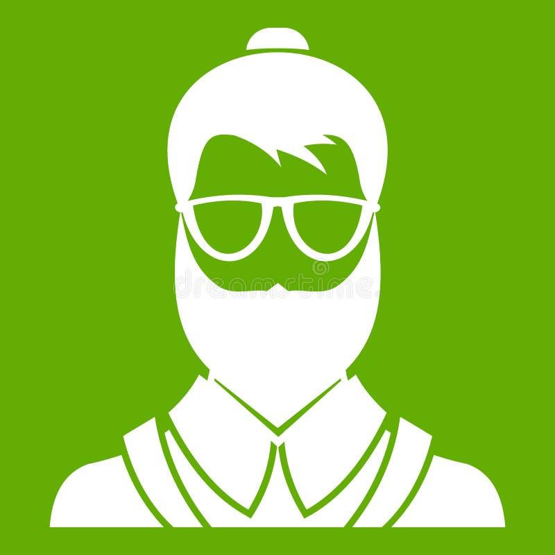 Verde do ícone do homem de Hipsster ilustração royalty free