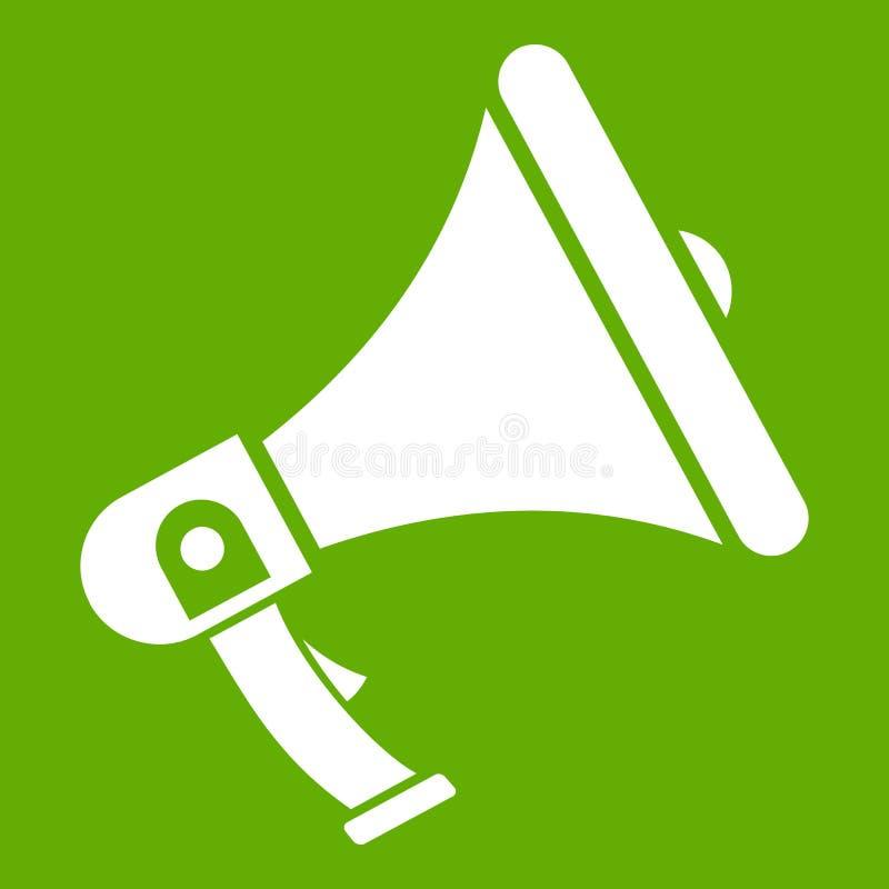 Verde do ícone do megafone ilustração stock