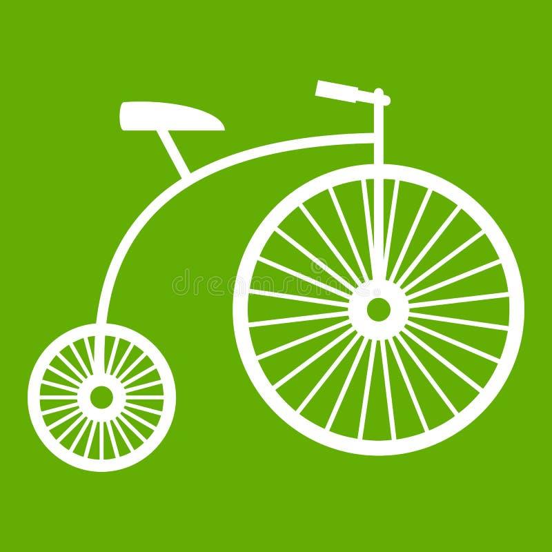 verde do ícone do Moeda de um centavo-farthing ilustração do vetor