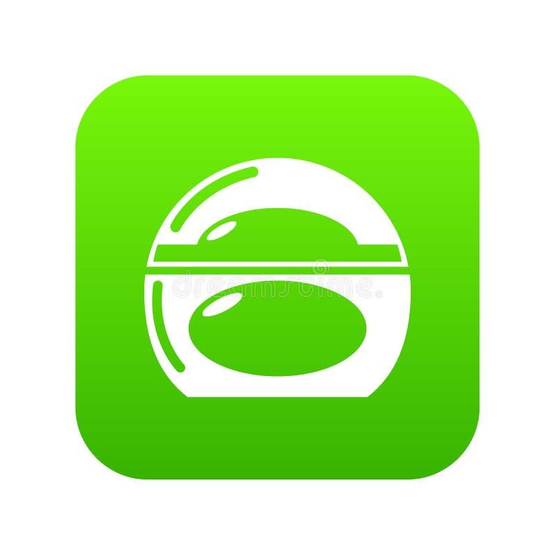 Verde do ícone do prato de sabão ilustração stock