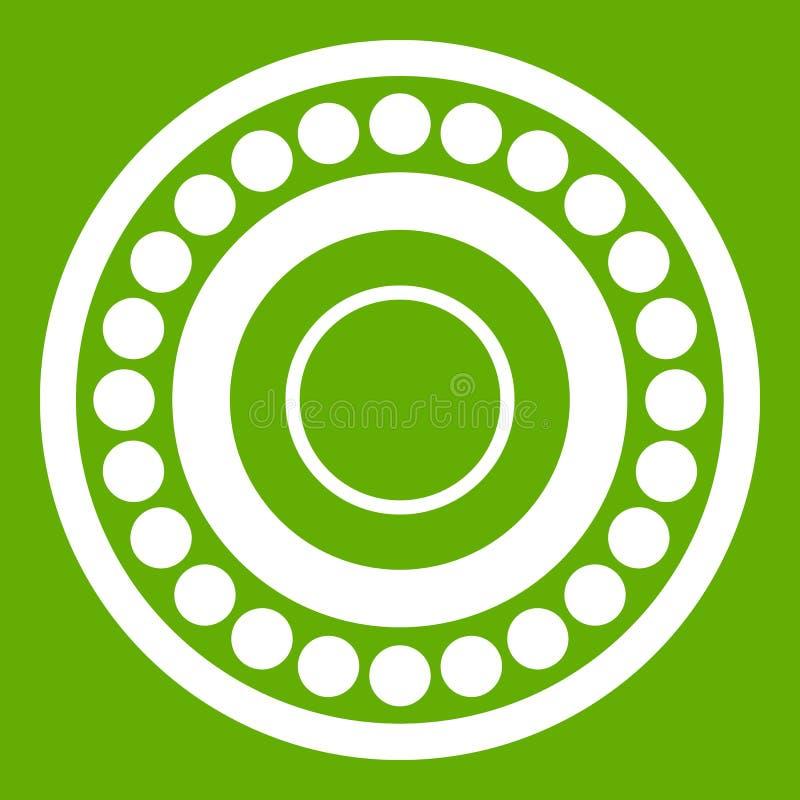 Verde do ícone do rolamento ilustração do vetor