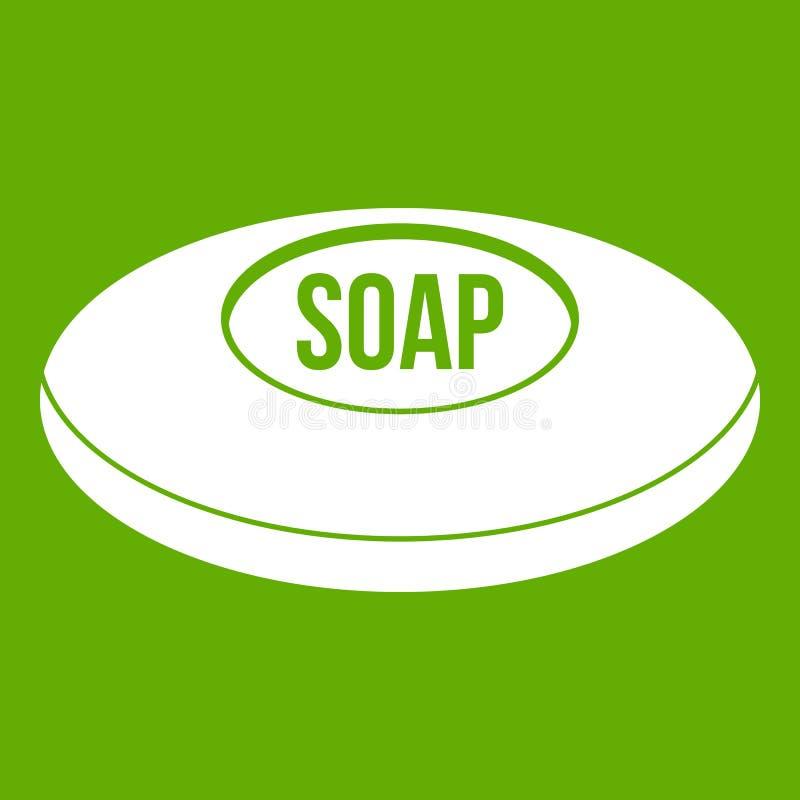 Verde do ícone do sabão ilustração stock