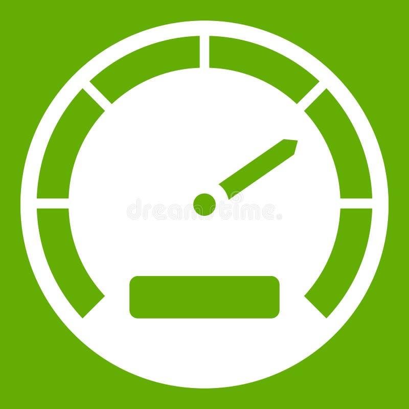 Verde do ícone do velocímetro ilustração do vetor