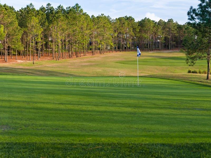 Verde do campo de golfe fotos de stock royalty free