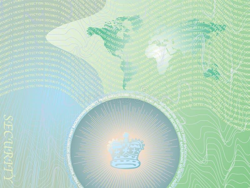 Verde do fundo da segurança ilustração royalty free