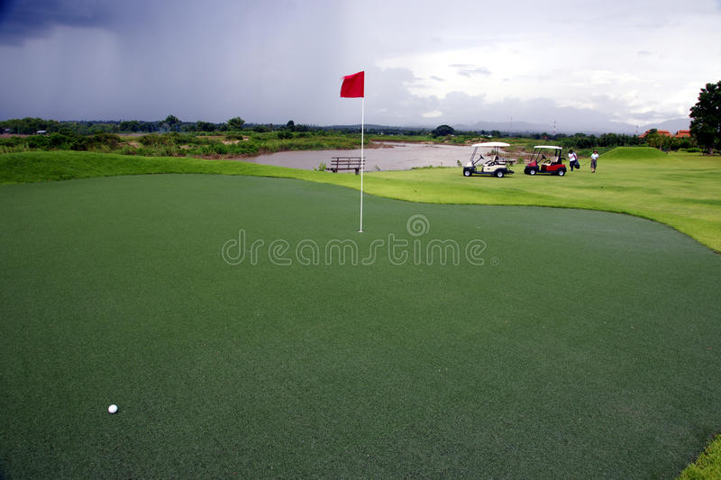 Verde do golfe fotos de stock royalty free