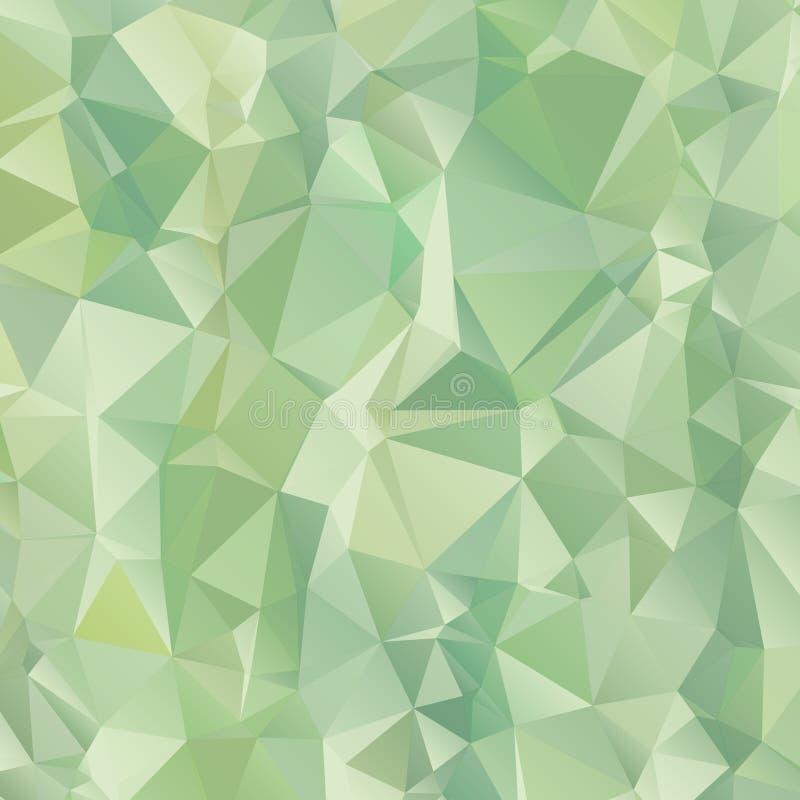 Verde do inclinação do fundo do teste padrão do polígono do triângulo foto de stock