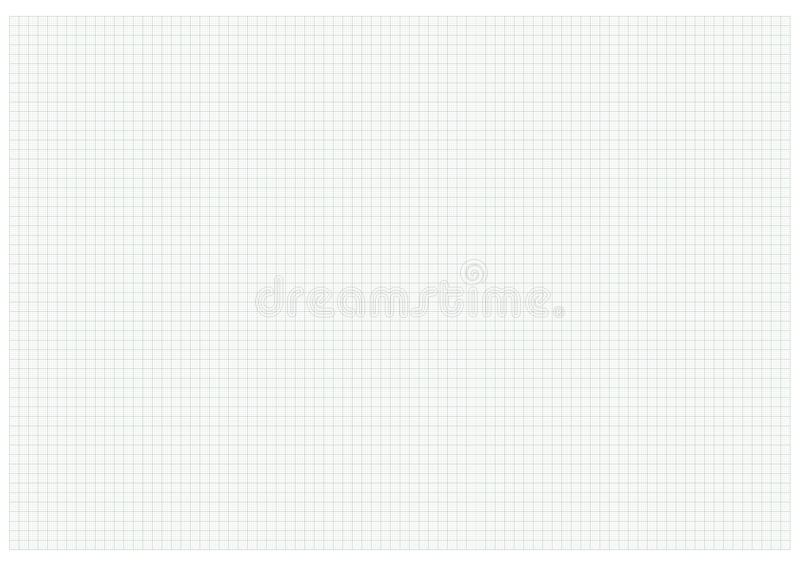 Verde do papel de gráfico do tamanho A3 ilustração royalty free