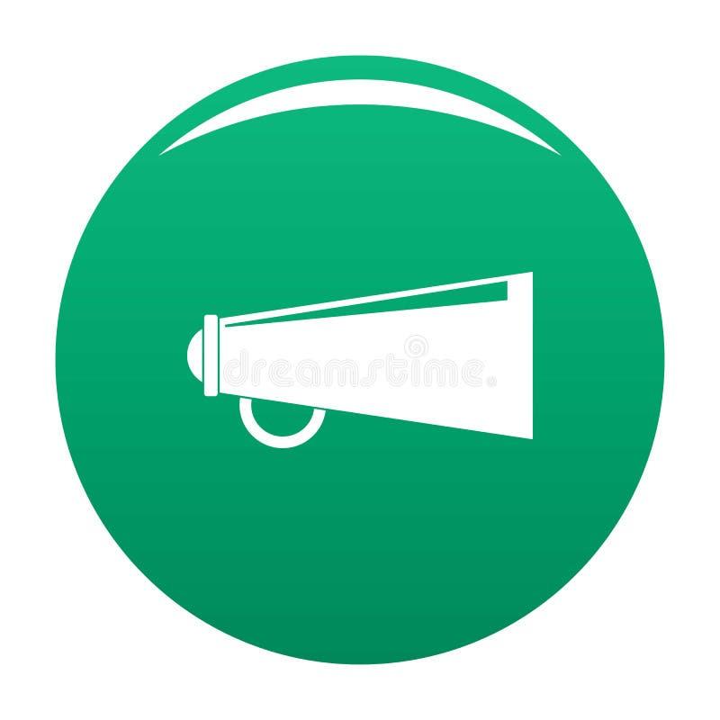 Verde do vetor do ícone do altifalante ilustração royalty free