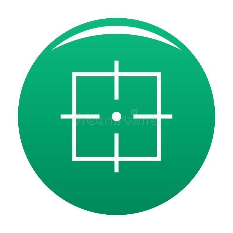 Verde do vetor do ícone da finalidade ilustração stock