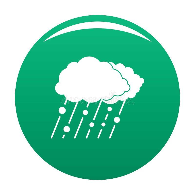 Verde do vetor do ícone da neve da chuva da nuvem ilustração royalty free