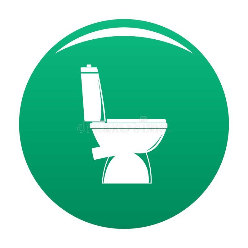 Verde domestico di vettore dell'icona della toilette illustrazione di stock