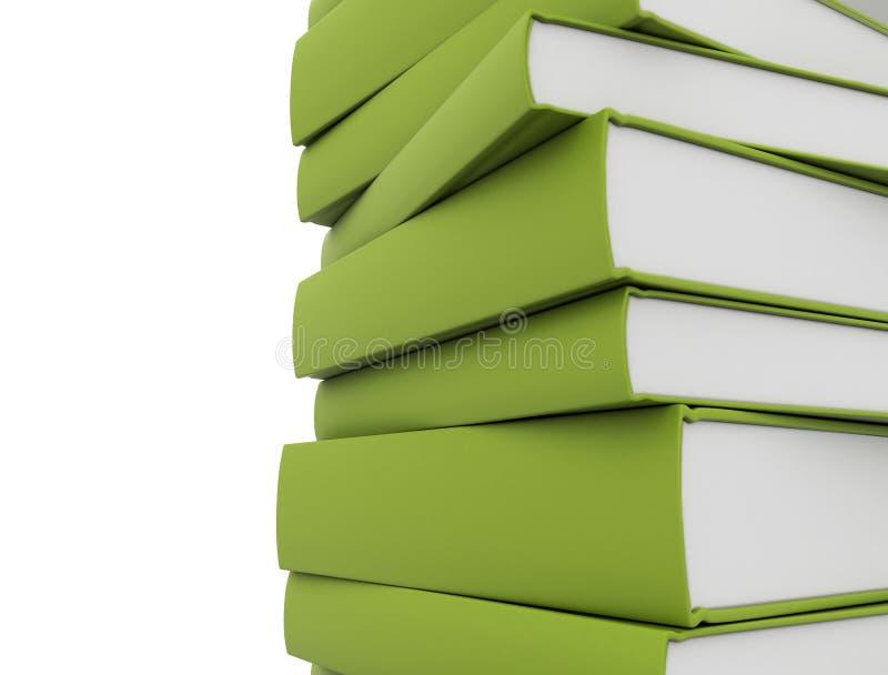 Verde dos livros ilustração royalty free