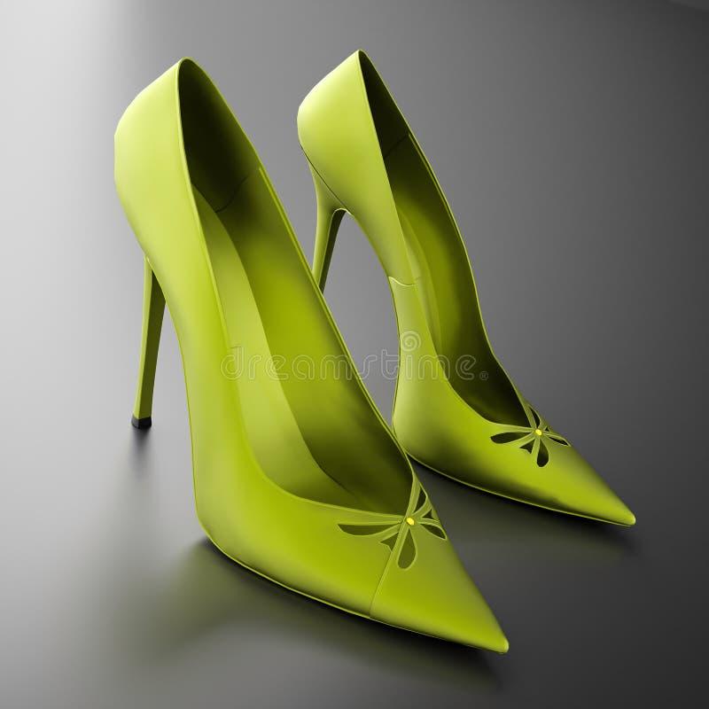 Verde dos saltos das mulheres ilustração royalty free