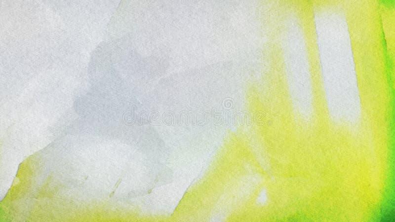 Verde e fundo elegante do projeto da arte gráfica da ilustração de Grey Grunge Watercolor Texture Beautiful ilustração do vetor