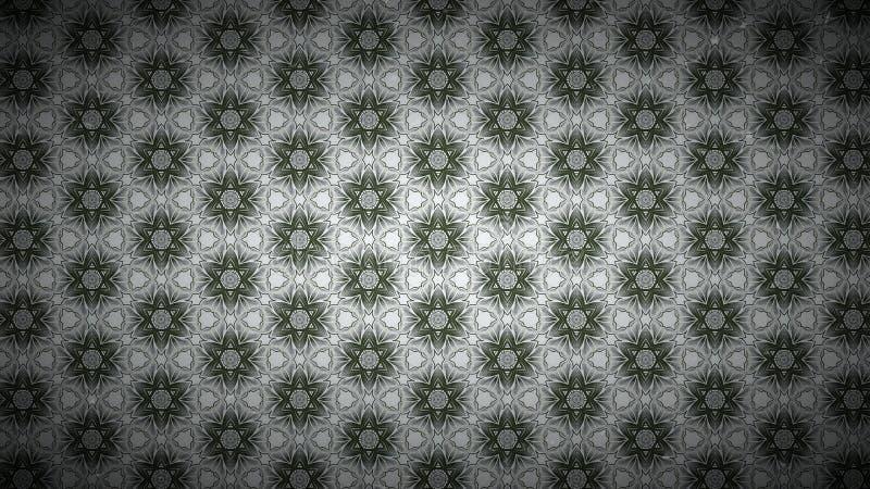 Verde e Grey Vintage Floral Wallpaper Background ilustração do vetor