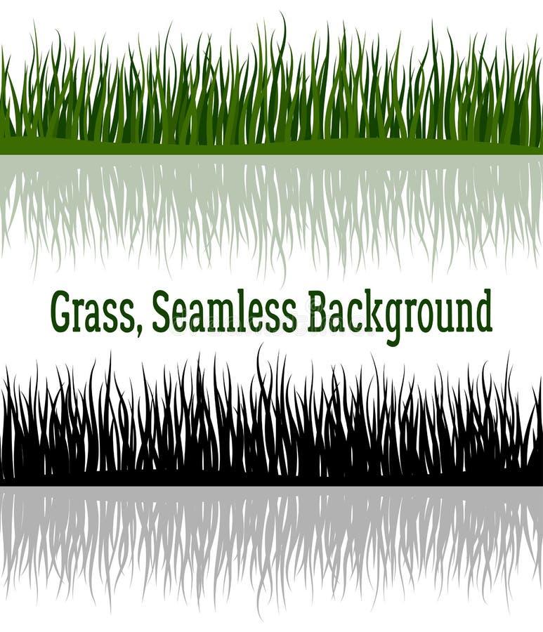 Verde e hierba de la silueta libre illustration