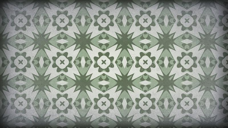 Verde e imagem de Gray Vintage Ornament Background Pattern ilustração stock
