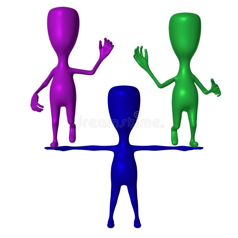 Download Verde E Roxo Azuis Da Preensão Do Fantoche 3d Ilustração Stock - Ilustração de apresentação, pessoa: 26501580