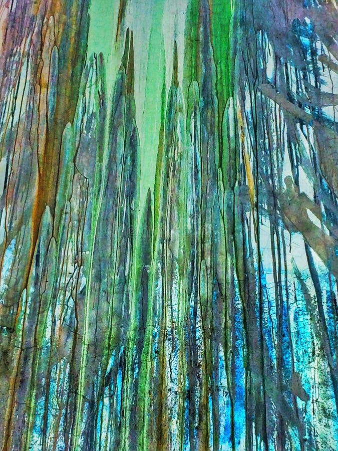 Verde e textura da pintura do gotejamento de Brown ilustração royalty free