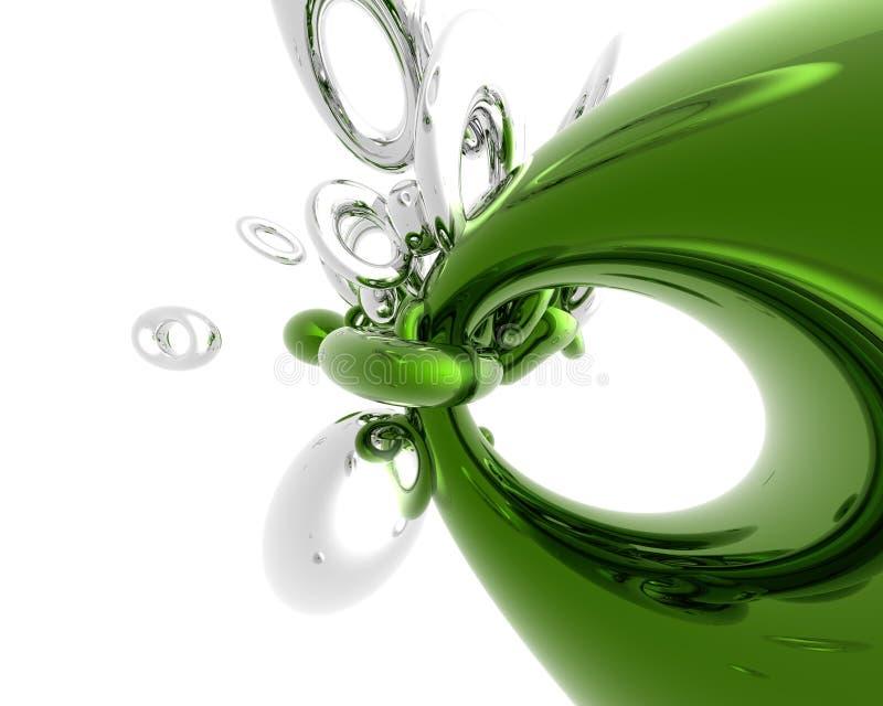 Verde ed argento illustrazione di stock