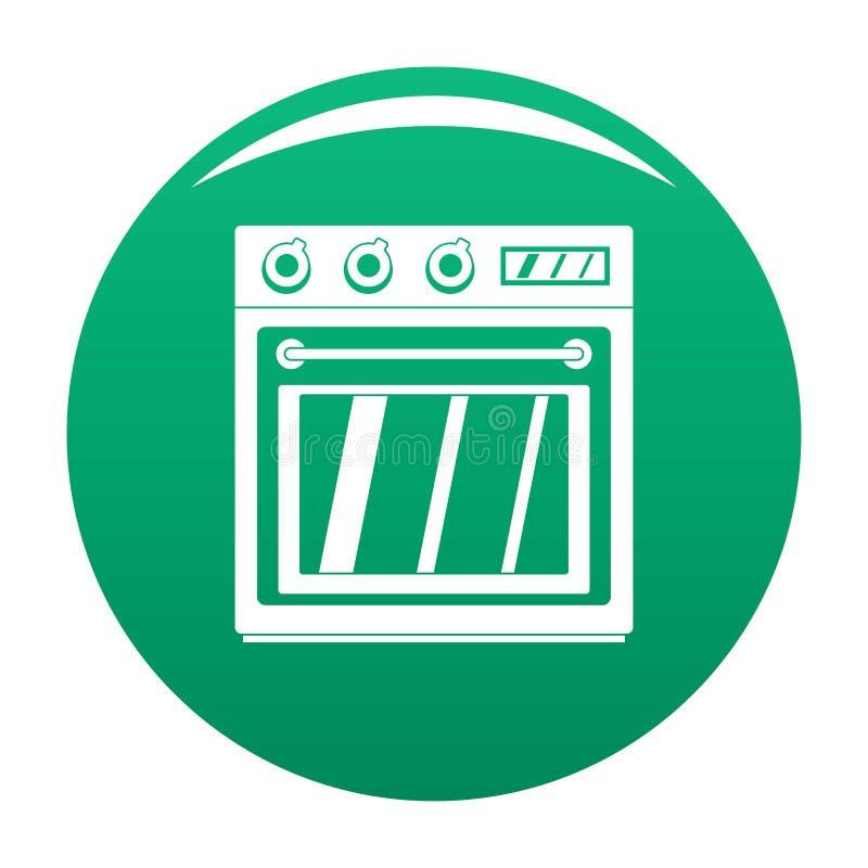 Verde eléctrico del vector del icono del horno stock de ilustración