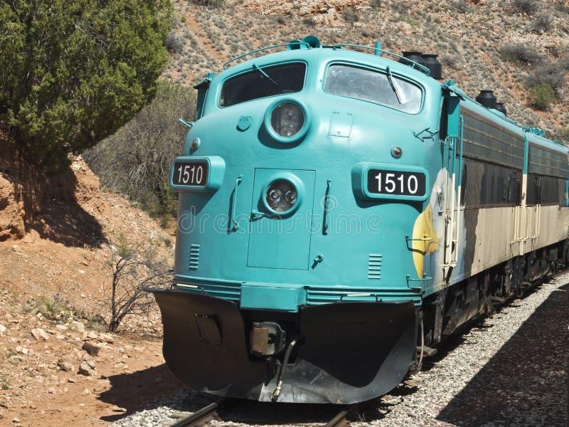 verde för arizona kanjonjärnväg fotografering för bildbyråer