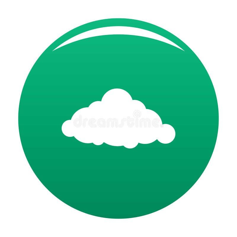Verde fixo do vetor do ícone da nuvem ilustração royalty free