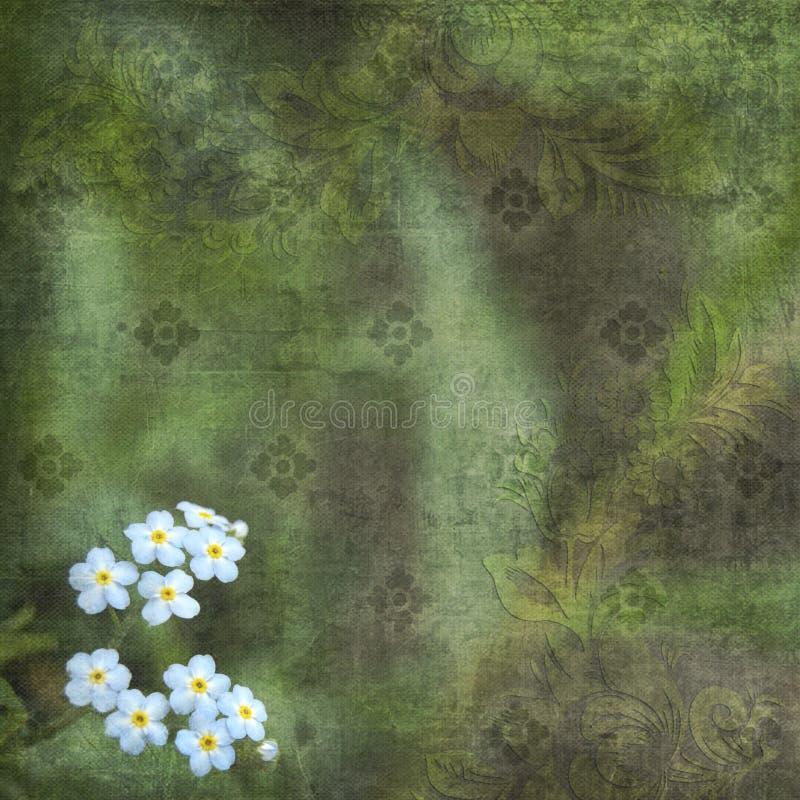 Download Verde Floral Do Fundo Do Vintage Ilustração Stock - Ilustração de quadro, antique: 12805020