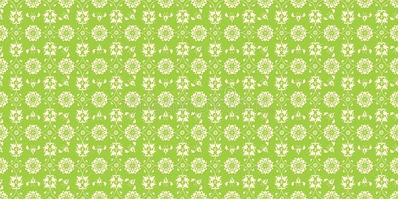 Verde floral sem emenda do teste padrão ilustração do vetor