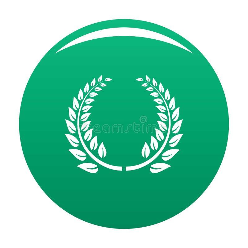 Verde floreale dell'icona della corona illustrazione vettoriale
