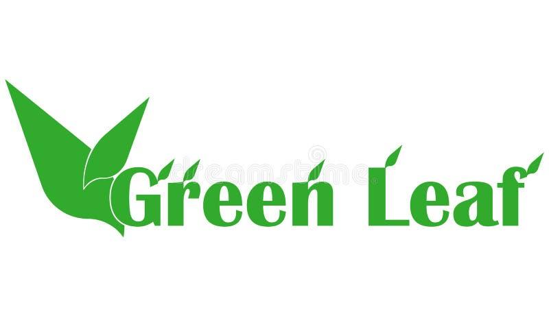 Verde-Foglia-logo illustrazione di stock