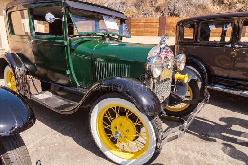 Verde Ford Model 1928 A immagini stock