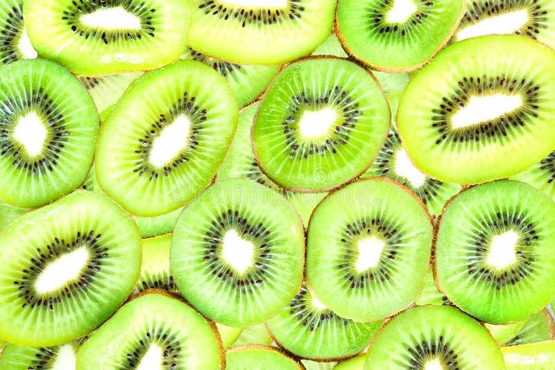 Verde fresco do fruto de quivi fotografia de stock royalty free
