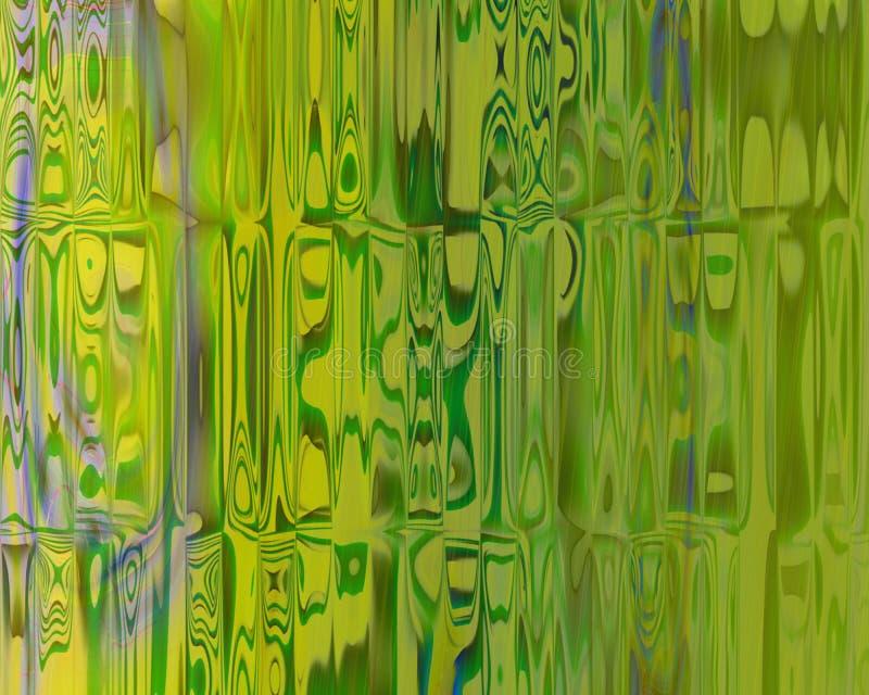 Verde genético das cortinas dos blocos de cristal da arte ilustração stock