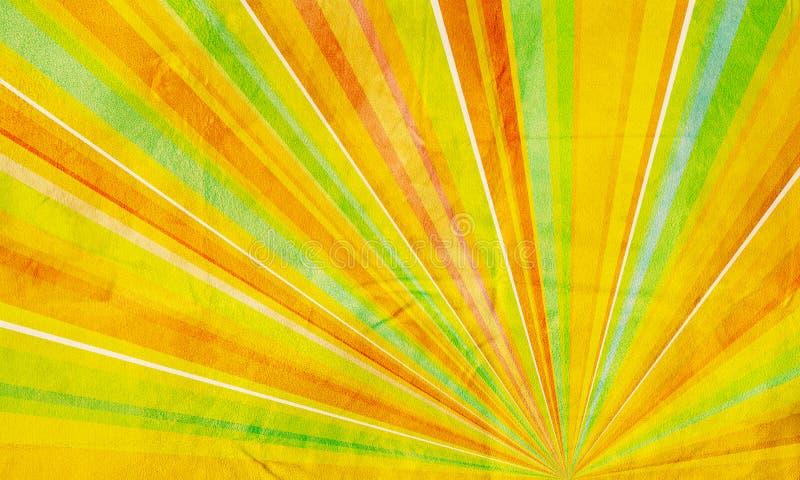 Verde giallo arancione della priorità bassa astratta geometrica immagine stock