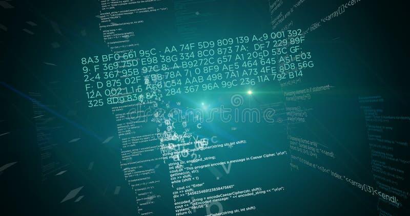 Verde grande do conceito dos dados ilustração do vetor