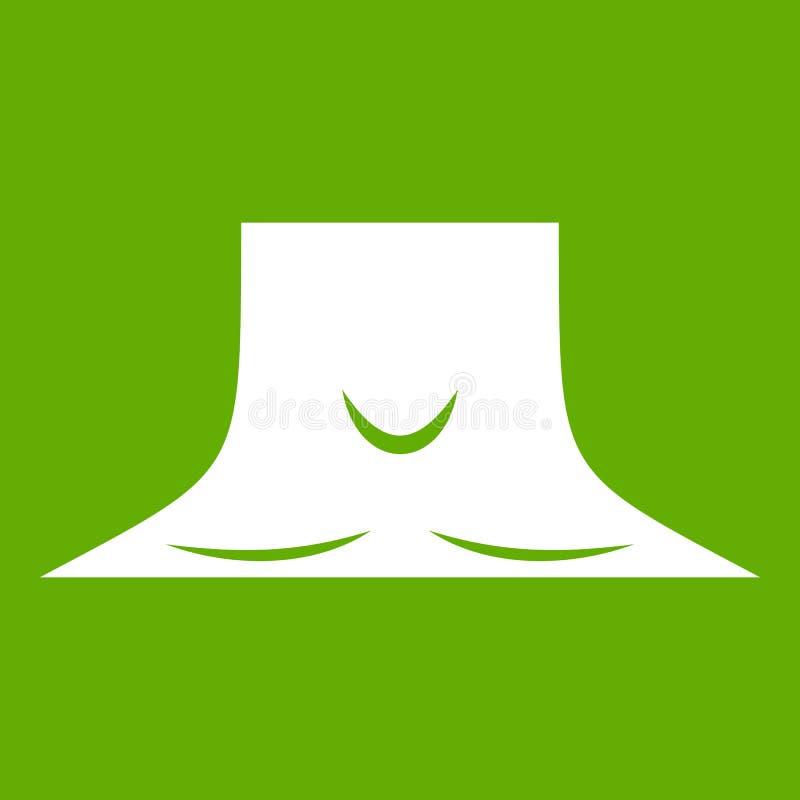 Verde humano del icono del cuello stock de ilustración